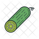 Cucumber Vegetable Food Agriculture Garden Farming Icon