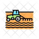 Tractor Cultivating Field Icon