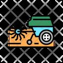 Cultivator Machine Color Icon