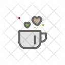 Cup Heart Love Icon