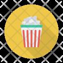 Cup Popcorn Snack Icon