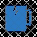 Broken Cup Waste Icon