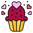 Cake Heart Muffin Icon