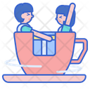 Cup Ride Amusement Spining Icon