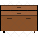 Cupboard Drawers Furniture Icon