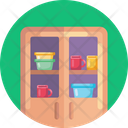 Cupboard Cups Plates Icon