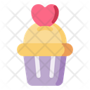 Cupcake Muffin Love Icon