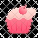 Cupcake Cherry Cake Icon