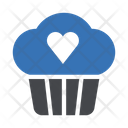 Love Cupcake Muffin Icon