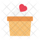 Cupcake Muffin Heart Icon