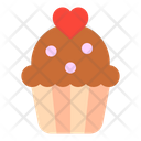 Cupcake Heart Love And Romance Icon