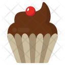 Chocolate Strawberry Cupcake Icon