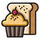 Cupcake And Bread Icon