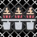 Cupcake Tin Cakes Baked Icon