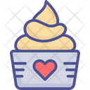 Cupcake With Cupcake Cupcake With Heart Dessert Icon