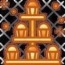 Cupcakes Tea Stand Chocolates Icon