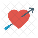 Cupid Heart Dart Icon