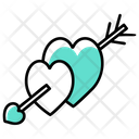 Cupid Heart And Arrow Cupid Arch Icon