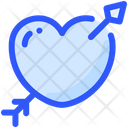 Heart Arrow Cupid Icon