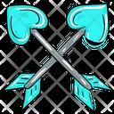 Cupid Bow Arrow Love Archery Icon