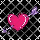 Cupid Bow And Arrow Archery Icon