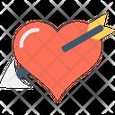Heart With Arrow Injured Heart Broken Heart Icon