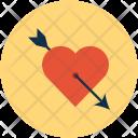 Cupid Arrow Heart Icon