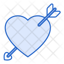 Cupid Heart With Arrow Lover Icon