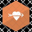 Cupid Heart Love Icon