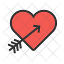 Cupid Heart Arrow Icon