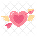 Heart Cupid Arrow Icon