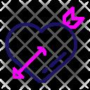 Cupid Arrows Romantic Icon