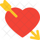 Heart Arrow Smiley Icon
