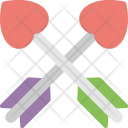 Crossed Cupid Arrows Icon