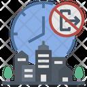 Curfew Lockdown City Icon