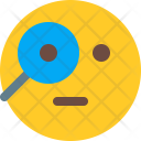 Curious Emoji Smiley Icon
