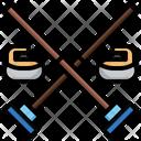 Curling Snow Ski Icon