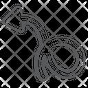 Wave Arrow Curly Arrow Curved Arrowhead Icon