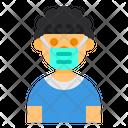 Curly Hair Boy Avatar Icon