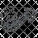 Curly Right Arrow Wave Arrow Curved Arrowhead Icon