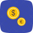 Currencies Dollar Euro Icon