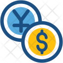 Coins Dollar Yen Icon