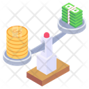 Financial Balance Capital Equity Weight Scale Icon