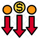 Currency Down Arrows Icon