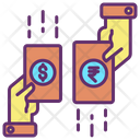 Mbusiness Payment Currency Exchange Dollar To Rupee Icon