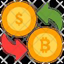 Currency Exchange Exchange Bitcoin Icon