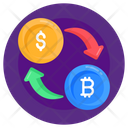 Bitcoin Exchange Bitcoin Cryptocurrency Blockchain Transfer Icon