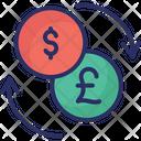 Currency Exchange Dollar Exchange Money Circulation Icon
