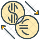 Currency Exchange Coin Icon