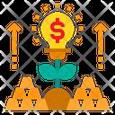 Innovation Gold Tree Icon